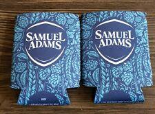 2 Pack Sam Adams Summer Beer can Koozies Blue cooler