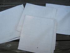 """Finlayson Finland Set 4 Cotton Cloth Napkins Beige Off White 12"""" Square Finnish"""