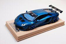 1/18 Lamborghini Aventador Liberty Walk LB Performance in Blue Alcantara BBR MR