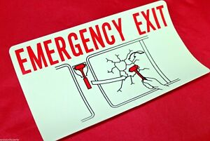 TOYOTA EMERGENCY EXIT DECAL HAMMER GLASS CAUTION COASTER FROM JAN 93> GENUINE