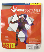 Morphcostumes Jester Boys Costume Large Purple Black Red Diamod Bodysuit 1pc