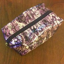 Tarte Faux Snakeskin Makeup Cosmetic Bag Purple Storage Zipper Zippered