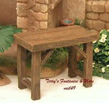 "FONTANINI ITALY 5"" SMALL RESIN TABLE 2016 NATIVITY VILLAGE ACCESSORY 59540 NIB"