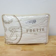 Frette Essentials Doppio Ajour Egyptian Cotton KING Fitted Sheet IVORY G1620