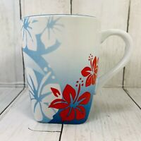 Disney IT'S A SHORE THING Mug Flower Floral Blue Hibiscus Coffee Tea Mickey
