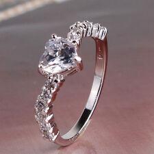 Extraordinary great heart topaz 18k white GF Exclusive style ring  Sz5-Sz9