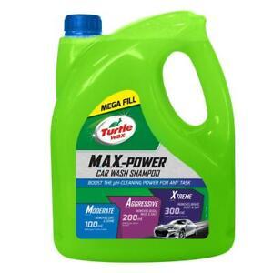 Turtle Wax 53284 M.A.X. Power Car Wash Shampoo Car Care Removes Car Wax 4L