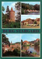 Burg Stargard Burg Stargard - Burgfried, Bad am Mühlenteich, Markt,  1981
