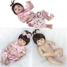 """22"""" Lifelike Reborn Baby Doll Full Body Vinyl Silicone Handmade Kids 55cm"""