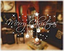 Merry Christmas Sticker Decal Xmas Decoration Window Reverse Cut Vinyl Graphics