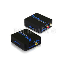 Digital Coax SPDIF or Optical Toslink to Analog RCA 3.5mm Stereo Audio Converter