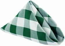 "15"" x 15"" Inch Dinner Napkins Polyester Washable Cloth Napkins Set White & Green"