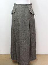 IRIE Ladies Black Marl Raw Silk & Wool Blend Maxi Skirt With Pockets Size S