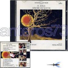 """NICOLA PIOVANI """"IL SOLE ANCHE DI NOTTE"""" RARE CD OST '90"""