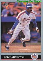 396   EDDIE MURRAY    NEW YORK METS BASEBALL CARD LEAF 1992
