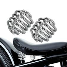 2'' Chrome Solo Seat Barrel Springs Fit For Harley Honda Bobber Chopper Custom