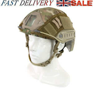 UK Helmet Cover CP Airsoft Paintball Military Tactical Gear Fast Combat Tools