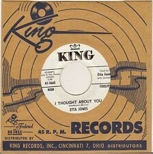 """ETTA JONES """"I THOUGHT ABOUT YOU"""" VOCAL JAZZ 60'S SP KING 5660 PROMO"""