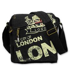 Sac à bandoulière toile noir Sac bandoulière BLASON Londres robin-ruth otg202s