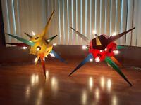 Vtg/Retro 1950s Commercial Store Atomic Space Sputnik Brutalist Lights,Set,HUGE!