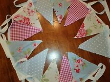 2M Handmade Shabby Chic Vintage style  fabric Bunting.Wedding,Home,Party,Baby