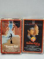 Betamax BETA - Lot of 2 - The Karate Kid - The Karate Kid II - NOT VHS
