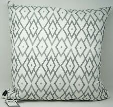 """Hallmart Collectibles Printed 20"""" Cotton Feather Fill Decorative Pillow - Gray"""