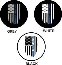 Thin Blue Line (your state here) Jeep Wrangler Rubicon Liberty Spare Tire Cover