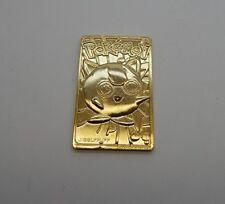 Nintendo Pokemon Jigglypuff 24k Gold Plated Card R17124