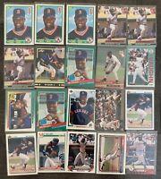 MO VAUGHN Baseball Card Lot - 1990 Score Rookie 1991 Leaf GOLD RC Boston Red Sox