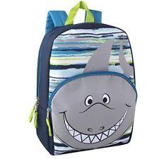"""Nwt Trail Maker Boys Shark School-Bag Shoulder Backpack 12"""" W/ Reinforced Straps"""