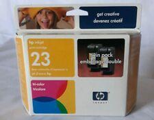 HP Inkjet print cartridge 23 tricolor TWIN PACK Nov 2004