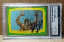 1979 Topps Incredible Hulk #10 Sticker Lou Ferrigno Autograph PSA/DNA Certified