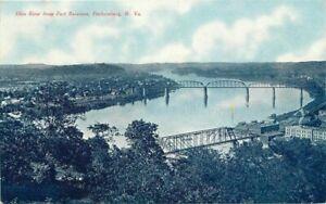 Blue Tint Ohio River Fort Boreman C1910 Tom Jones Parkersburg West Virginia 2394