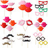 4Pcs Photo Booth Props For Party Polymer Clay Glasses Moustache Lips on a Stick