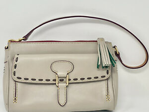 Dooney Bourke Macarron Hazelwood  Florentine Leather Medium Front Pocket Clutch