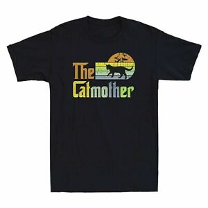 The Catmother The Black Cat Mother Retro Vintage Men's Short Sleeve T Shirt Tee