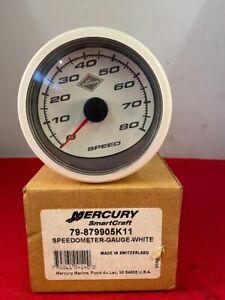 Mercury Mercruiser 79-879905K11 Speedometer Gauge - White - NEW