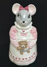 Country Mouse Cookie Jar House Of Lloyd Apron Teddy Bear
