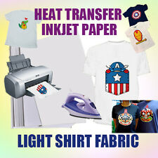 A4 20sheets  Iron Heat Transfer Paper For The Light Cotton Shirt Hot