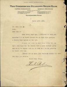 1925 Nacogdoches Texas (TX) Letter The Commercial Guaranty State Bank