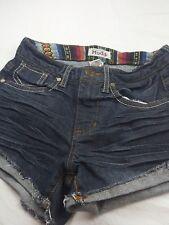 "Women's Juniors Mudd Denim Blue Jean Shorts Size 0 Waist 13"" Rise 81/2  Inseam3"""