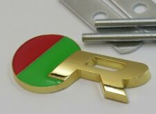 24ct GOLD PLATED JAGUAR R Grille Grill BADGE 24K Xjr Xkr Xfr S-Type F-Type