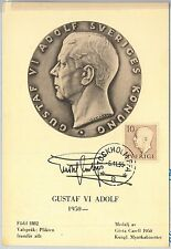 63699  -  SWEDEN - POSTAL HISTORY: MAXIMUM CARD 1955 -  ROYALTY