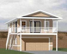 20x32 House -- 2 Bedroom -- 4:12 Roof Pitch -- PDF Floor Plan -- Model 7I
