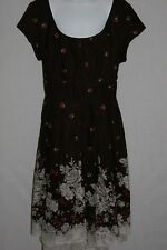 Jody Brown Cotton Modest Floral Dress Juniors SZ 7/8