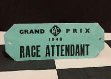 More details for 1948 first silverstone british grand prix gp f1 race attendant armband pass rare