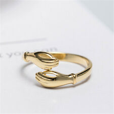 Fashion Jewelry women's gold hand Marriage Ring anniversary gift Adjustable
