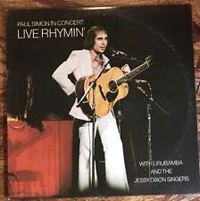Paul Simon~Live Rhymin' PC 32855 1974 Lp VG