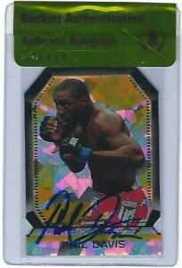 Phil Davis Signed 2011 Topps UFC Finest Atomic Refractors Card #FAR-9 BAS COA
